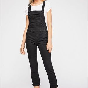Free People Washed Denim overalls Size 25